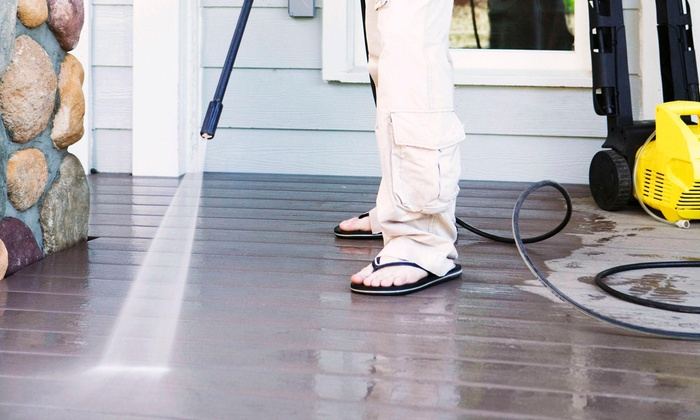 Deckhand Pressure Washing - Fort Worth: Sidewalk or Concrete Pressure Washing from Deckhand Pressure Washing (60% Off)