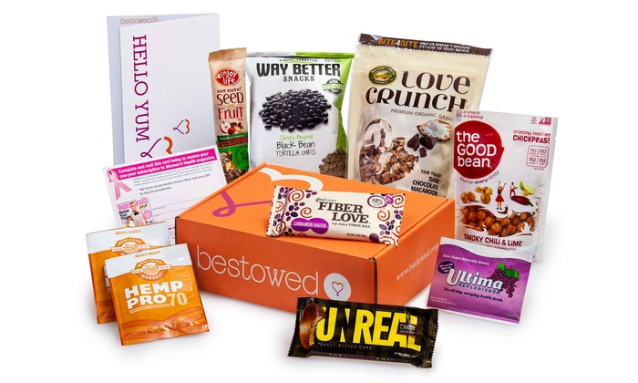 Bestowed: One or Three Months of Healthy Snacks and Drinks Boxes from Bestowed (Up to 40% Off)