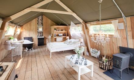 NoordBrabant: 1 tot 3 nachten voor twee of negen personen in een Safari Lodge bij Guesthouse de Heide