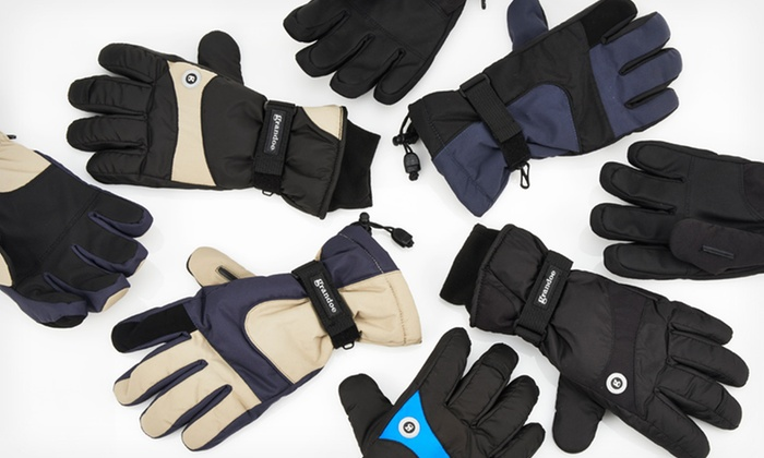Grandoe Men's Waterproof Gloves: $14.99 for One Pair of Grandoe Men's Waterproof Gloves (Up to $60 List Price). Multiple Options Available. Free Returns.