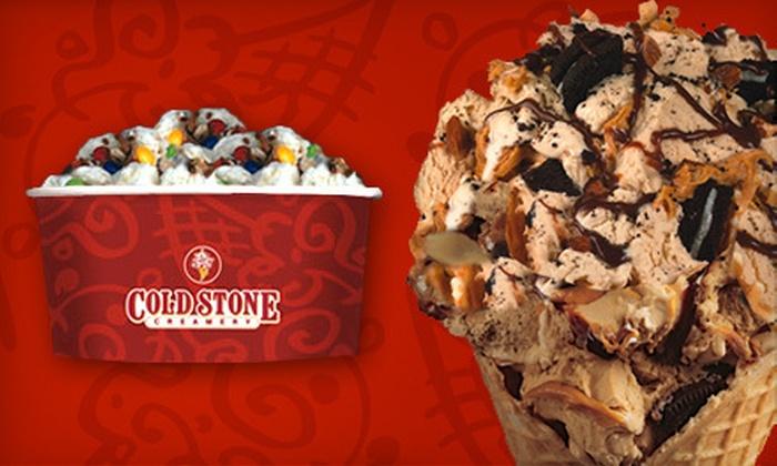 Cold Stone Creamery - Mishawaka: $5 for $10 Worth of Ice Cream and Frozen Yogurt at Cold Stone Creamery