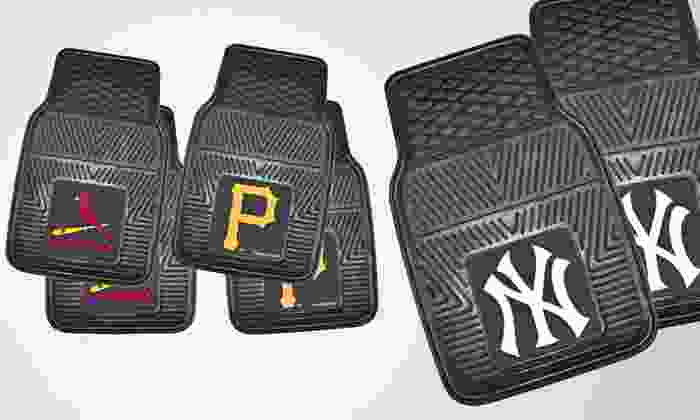 Fan Mats Two-Piece MLB Vinyl Car-Mat Set: $23.99 for Fan Mats MLB Two-Piece Vinyl Car-Mat Set ($49.99 List Price). 30 Teams Available. Free Shipping.