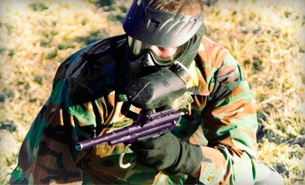 Paintball for 2: includes admission, rental gear, and 100 paintballs for each person