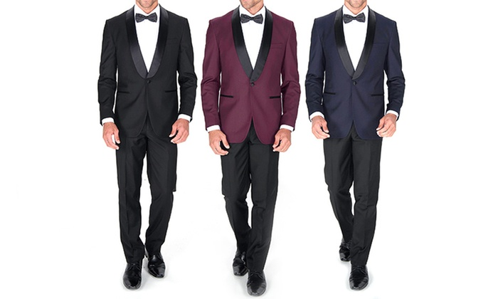 Braveman Shawl Collar Slim Fit Tuxedo with Free Bow Tie