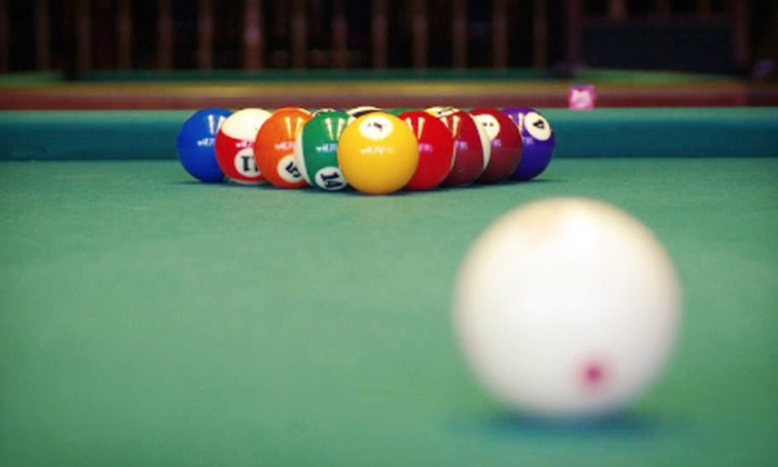 Bison Billiards - Bison Billiards: Two Hours of Pool with Drinks and Pizza for Two or Four at Bison Billiards (Up to 57% Off)