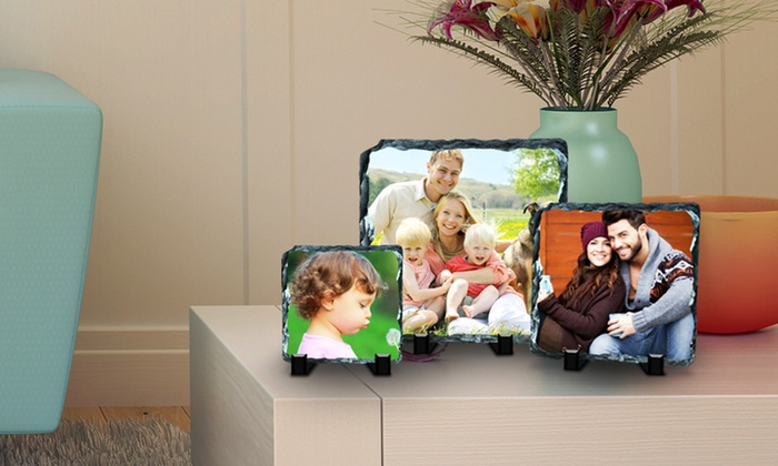 """Picture It On Canvas: 6""""x6"""", 6""""x8"""", 8""""x8"""", or 12""""x12"""" Custom Print on Slate from Picture It On Canvas (Up to 83% Off)"""