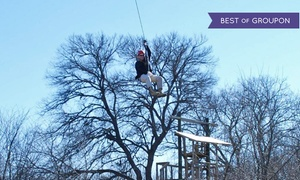 DFW Adventure Park: Zipline Tour or Entry to the Great Obstacle Race with 1 Zipline Cable for 2 at DFW Adventure Park (45% Off)