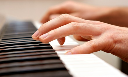 4, 8, or 12 Private Piano or Voice Lessons at East Wing Recording & Entertainment (Up to 60% Off)
