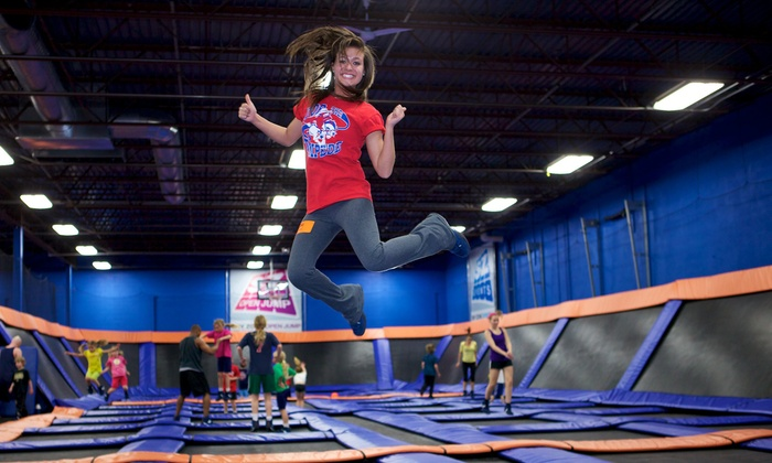 Sky Zone Des Moines - Sky Zone Des Moines: $18 for One Hour of Open-Jump Time for Two with Reusable SkySocks at Sky Zone Des Moines ($30 Value)