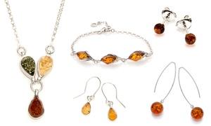 Bijoux argent et ambre
