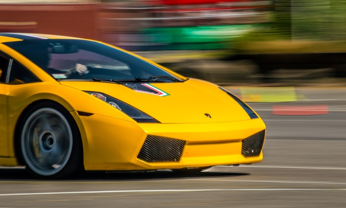 The Motorsport Lab - Big Fresno Fairgrounds: Ferrari or Lamborghini Autocross Experience from The Motorsport Lab (Up to 82% Off). Four Options Available.