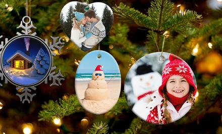 Customizable Ceramic or Pewter Ornament from $9.99–$11.99 from Picture It on Canvas.