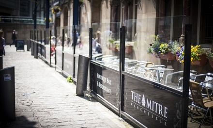 TwoCourse Meal with Wine for Two or Four at The Mitre Hotel