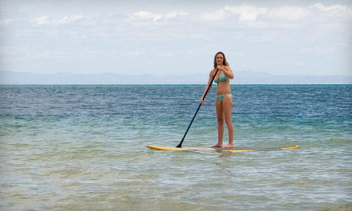 Port A H20 - Port Aransas: 90-Minute Standup-Paddleboard Rental with Quick Lesson for Two or Four at Port A H20 (Up to 51% Off)