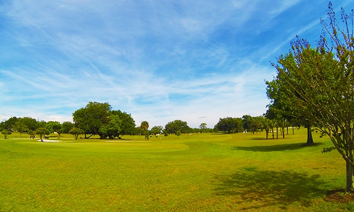 Mayfair Country Club - Sanford: 18-Hole Golf Outing with Cart, Range Balls, and Beer for Two or Four at Mayfair Country Club (Up to 50% Off)