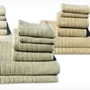 6-Piece Bliss Absorbent Brick Jacquard Towel Set