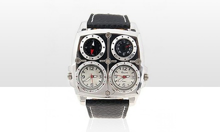 Black and Silver Oulm Watch for £9.98
