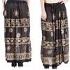 Highness Plus-Size Gold Print Maxi Skirt (One Size-Plus)