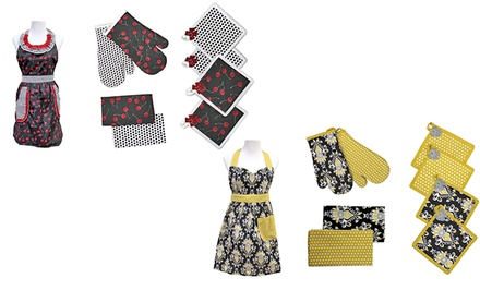 9-Piece 100% Cotton Apron Set