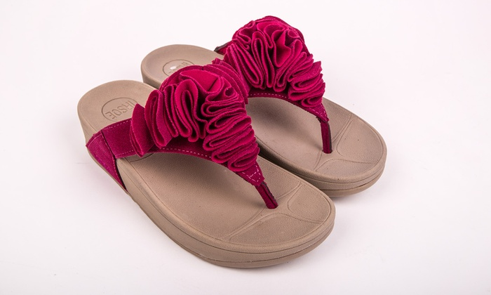57eb582869f7bf Ladies  Toning Flip Flops