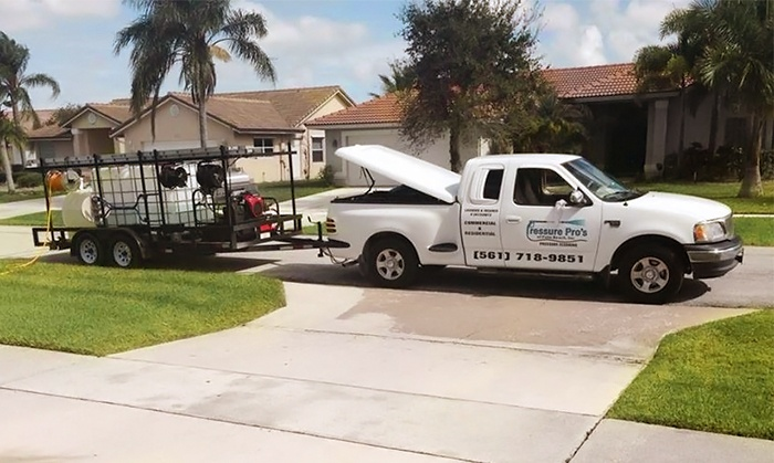 Pressure Pros Of Palm Beach,Inc - Palm Beach: $99 for Pressure Washing of Up to 1,200 Square Feet from Pressure Pros Of Palm Beach,Inc ($199 Value)