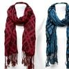 K&J Combination Plaid and Stripe Scarves