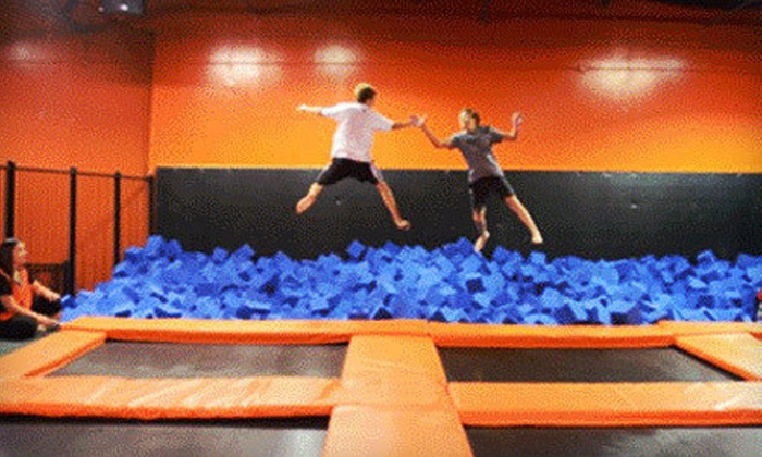 Urban Air Trampoline Park - Commerce Business Park: Trampoline Jumping on Monday–Thursday or Friday–Sunday for Two or Four at Urban Air Trampoline Park (Up to Half Off)