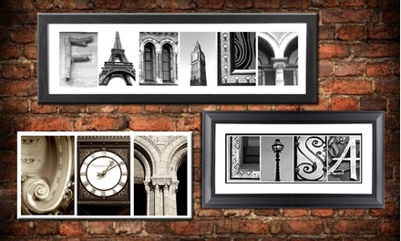 Custom Letter-Art Package with Extra Word and Optional Frame from Imagine Letters (Up to 77% Off)
