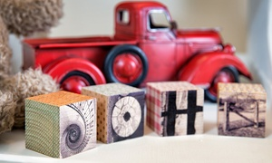 Frame the Alphabet: Five or Eight Custom Letter Blocks from Frame the Alphabet (Up to 69% Off)