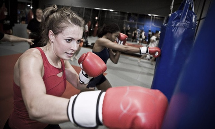 Bangkok Boxing Fitness - Multiple Locations: Two Weeks of Kickboxing, Boot-Camp Classes, or Boxing with Personal Training at Bangkok Boxing Fitness (Up to 83% Off)