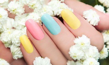 Gel Polish Manicure $19, Pedicure $25 or Both $39 at Tina Eyelash Extension Up to $80 Value