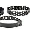 Stainless Steel Men's All Black Bracelets