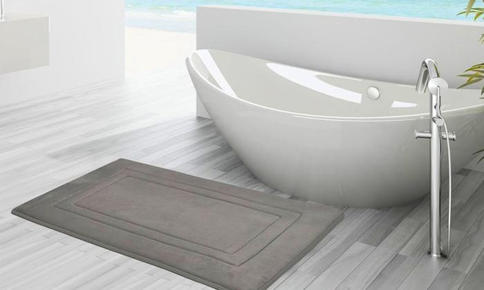 Oversized Memory Foam Bath Mat Groupon Goods