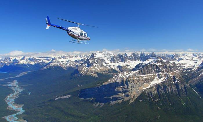 Kananaskis Heli Tours - Rockies Heli Canada: Helicopter Flight and Snowshoeing Adventure for Two or Four from Kananaskis Heli Tours (Up to 56% Off)
