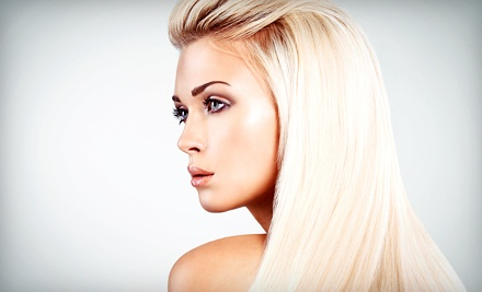 Cut, Color, and Waxing from Hair By Melissa at Tangles Hair Salon (Up to 55% Off). Four Options Available.