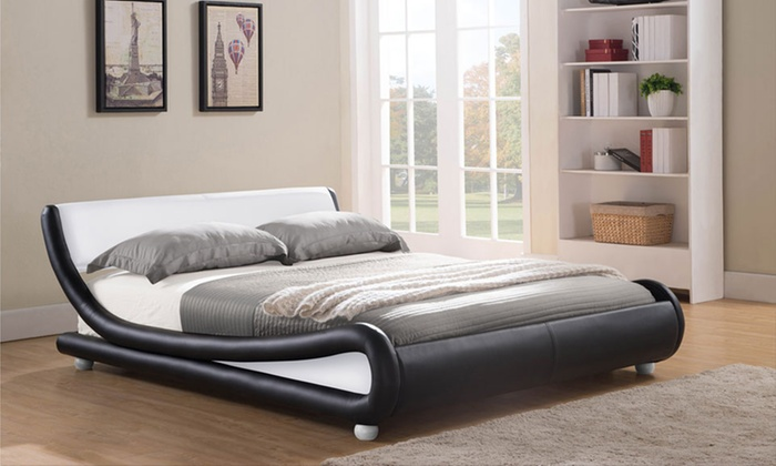 Galaxy Curved Bed Frame Groupon Goods