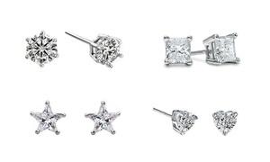 Set of Four Various Studded Earrings
