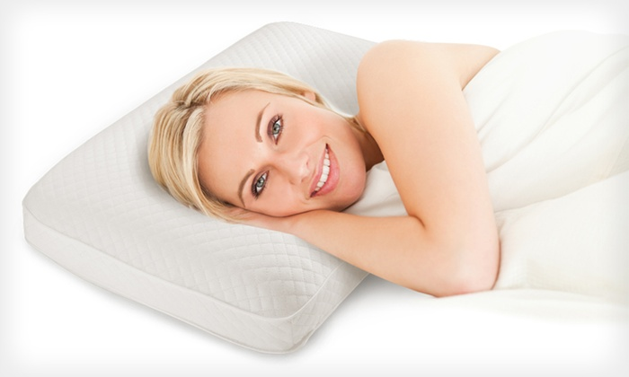 Soft tex memory foam pillows groupon goods for Best soft memory foam pillow