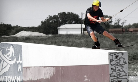 Two-Hour Wakeboarding Class for One or Two, or All-Day Summer Camp for One at Cowtown Wakepark (Up to 45% Off)