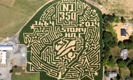 Weekend Corn Maze, Hayride, and Snacks for 2, 4, or 6, or Weekend Corn-Maze Visit for Two (Up to 56% Off)