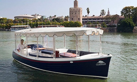 Paseo en ecobarco por el Guadalquivir para 2 o 4 personas desde 14,99 € con Guadaluxe