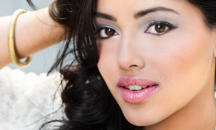 La Vita Bella - Center City East: Glam Makeup Application with Optional Eyelash Extensions at La Bella Vita (Up to 54% Off)