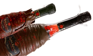 Bliss in a Bottle: Two Chocolate Dips or One Regular and One Mini Chocolate-Dipped Wine Bottle at Bliss in a Bottle (Up to 44% Off)