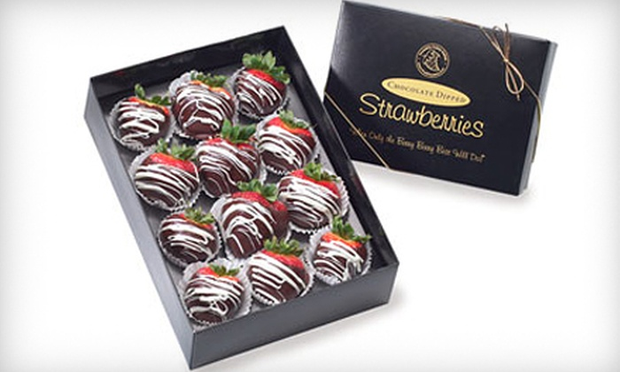 FruitFlowers - Irishtown: One Box of 12 Chocolate-Dipped Strawberries or $25 for $50 Worth of Fruit Bouquets from FruitFlowers