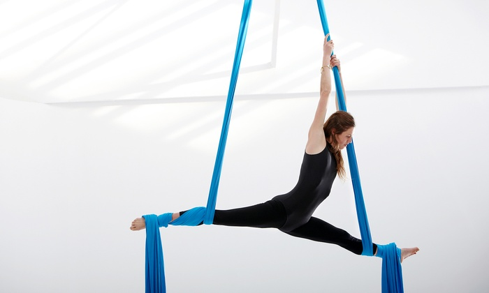The Stomping Ground - Downtown: Two or Three Aerial Fitness Classes at The Stomping Ground (Up to 51% Off)