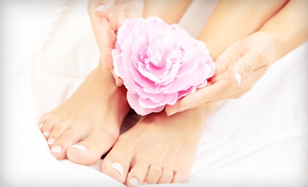 $39 for a Deluxe Mani-Pedi with Hand Paraffin Dip at A Touch of Heaven Salon Massage & Day Spa ($95 Value)