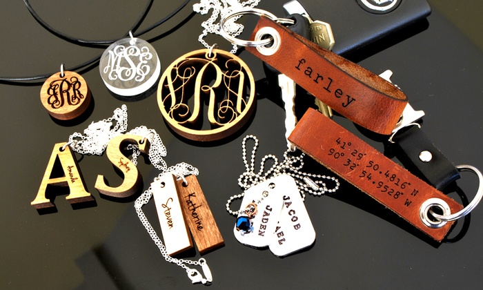 LilyDeal.com: Personalized Necklace or Leather Keychain from LilyDeal.com (Up to 54% Off)