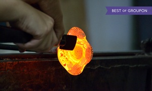 Circle 6 Studios: Glass-Blowing Class for One, Two, or Four or a Form-Fusing Class for One at Circle 6 Studios (Up to 55% Off)