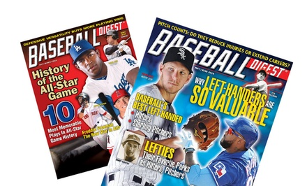 1-Year Subscription to Baseball Digest Magazine (6 Issues)