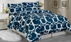 Rhys 3-Piece Duvet Set: Rhys 3-Piece Set with Duvet Cover and Matching Shams. Multiple Sizes Available.